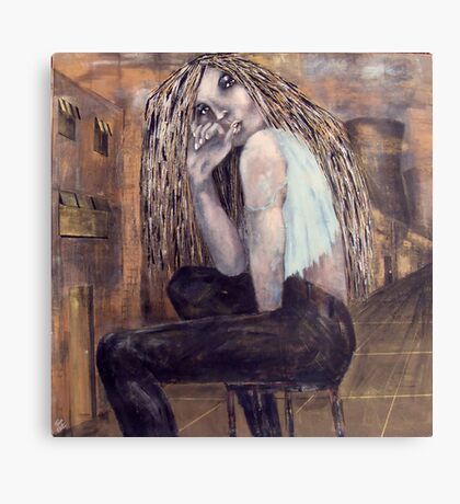 Alice in a Troubled Land Canvas Print