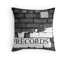 DANGER broken RECORDS Throw Pillow