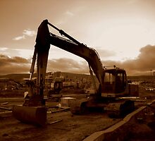 Titanic Quarter digger, Belfast by Chris Millar