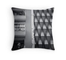 Streetscape in Santiago, Chile Throw Pillow