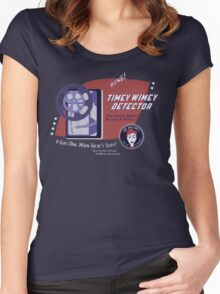 Timey Wimey Machine - Doctor Approved! Women's Fitted Scoop T-Shirt