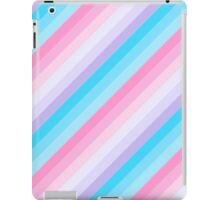 Diagonal Pastel Ombre Stripes iPad Case/Skin