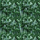 Japanese cedar forest pattern by Ivy Izzard