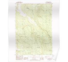 USGS Topo Map Oregon Elk Prairie 279787 1985 24000 Poster