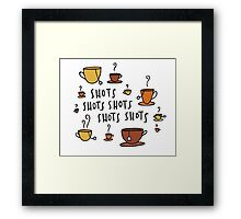 Tea Shots Framed Print