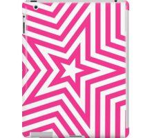 Pink and White Star Kaleidoscope Pattern  iPad Case/Skin