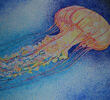Pointillist Jellyfish by taylordace