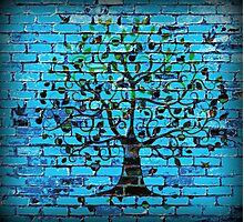 Tree On The Wall Photographic Print