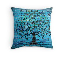 Tree On The Wall Throw Pillow