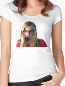 Felicity Smoak | Surprised on the phone | Arrow Season 3 Women's Fitted Scoop T-Shirt