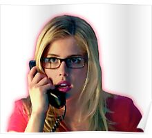 Felicity Smoak | Surprised on the phone | Arrow Season 3 Poster