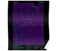 USGS Topo Map Oregon Black Crater 279054 1988 24000 Inverted Poster