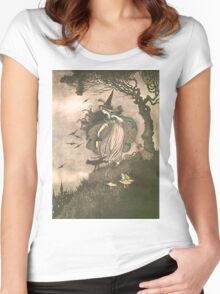 Grimm's fairy-tale witch Women's Fitted Scoop T-Shirt