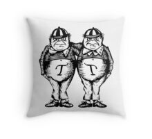 Tweede Dee and Tweedle Dum Throw Pillow