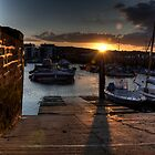 Sunset at West Bay by Rob Hawkins