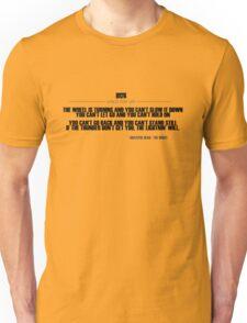 Grateful Dead Lyric - The Wheel Unisex T-Shirt