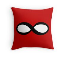 Infinity - Red Throw Pillow