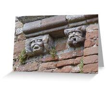Brougham Castle Gargoyles Greeting Card