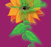 Amber-Eyed Flower by Infinite Path  Creations