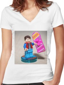 Marty is ready Women's Fitted V-Neck T-Shirt