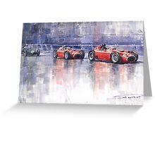 Ferrari D50 Monaco GP 1956 Greeting Card