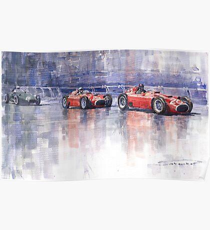 Ferrari D50 Monaco GP 1956 Poster