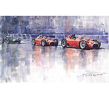 Ferrari D50 Monaco GP 1956 Photographic Print