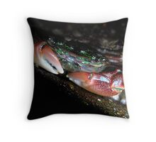California's Christmas Crab Throw Pillow
