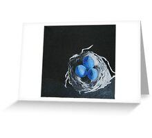 Blue Bird Eggs Greeting Card