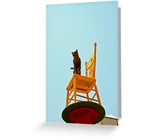 Chair Art China Town Greeting Card
