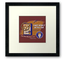 Timey Wimey Machine - Doctor Approved! (Orange) Framed Print