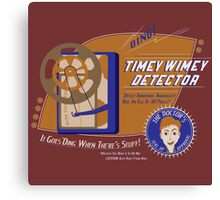 Timey Wimey Machine - Doctor Approved! (Orange) Canvas Print