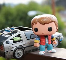 Marty Mcfly Delorean by garykaz