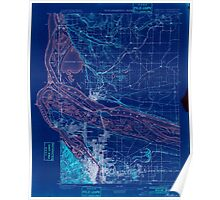 USGS Topo Map Oregon Portland 282793 1897 62500 Inverted Poster