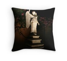 Angel at Night Throw Pillow