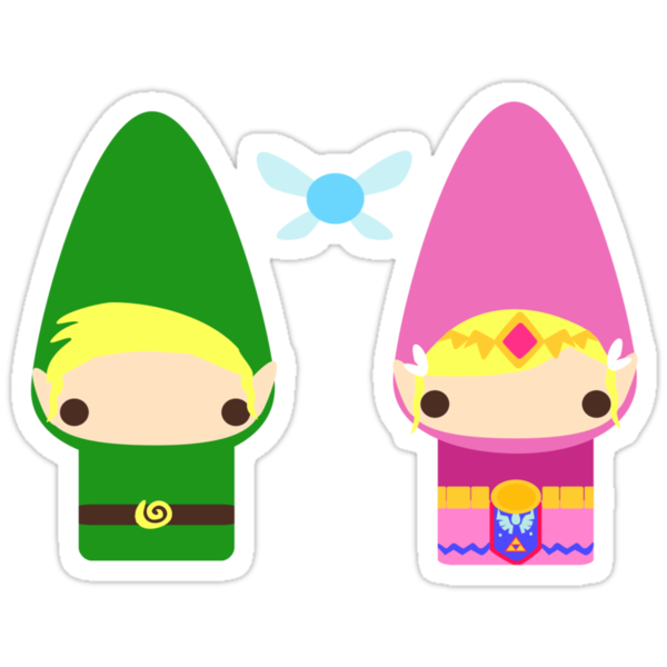 Gnome Link and Zelda by GeekCupcake