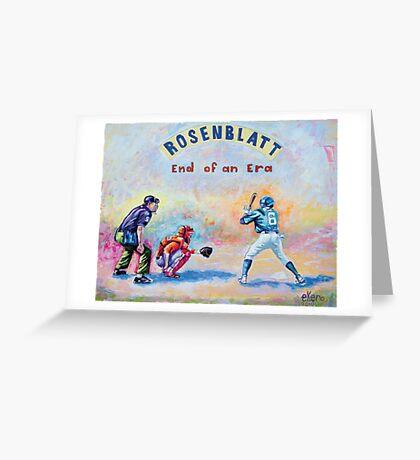 Rosenblatt: End of an Era Greeting Card
