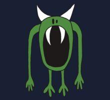 Big Mouth Green Monster  Kids Tee