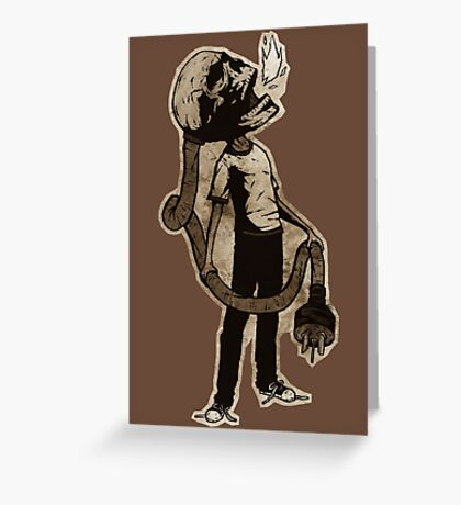 Frank The Electric Skull Greeting Card