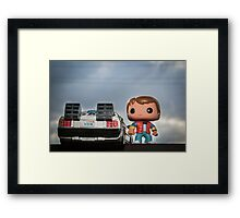 Outatime with Marty McFly Framed Print