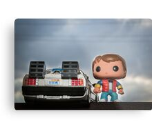 Outatime with Marty McFly Metal Print