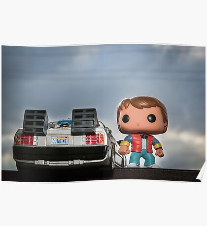 Outatime with Marty McFly Poster