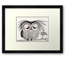 """It's been a long day..."" Framed Print"