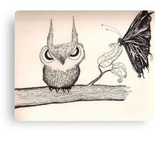 Owl with Attitude.... Canvas Print