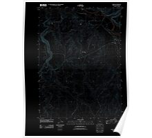 USGS Topo Map Oregon Rome 20110824 TM Inverted Poster
