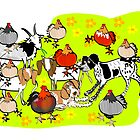 Farmyard Card by Diana-Lee Saville