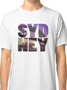 Sydney Bridge Text Classic T-Shirt