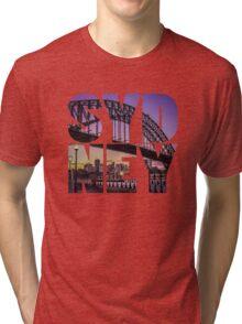 Sydney Bridge Text Tri-blend T-Shirt
