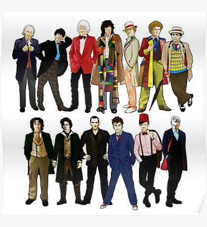 Doctor Who - Alternate Costumes 13 Doctors Poster