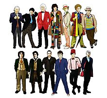 Doctor Who - Alternate Costumes 13 Doctors Photographic Print